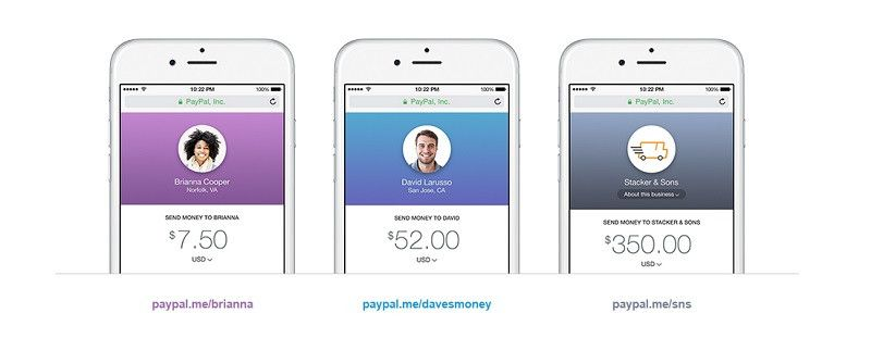 paypalme screen