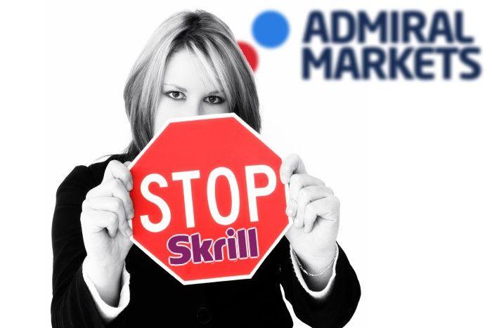 Admiral Markets прекратил работу со Skrill
