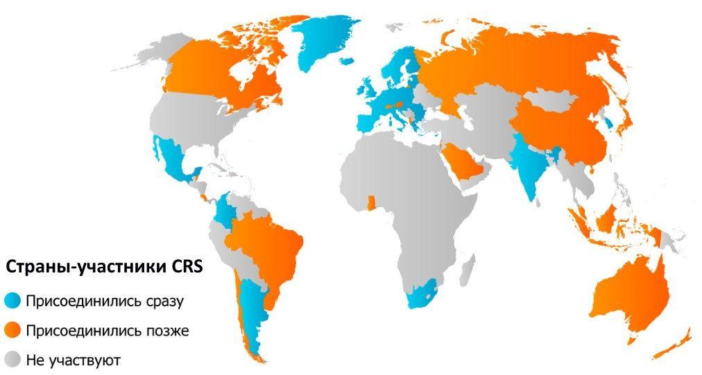 Страны-участники CRS, источник IBClub
