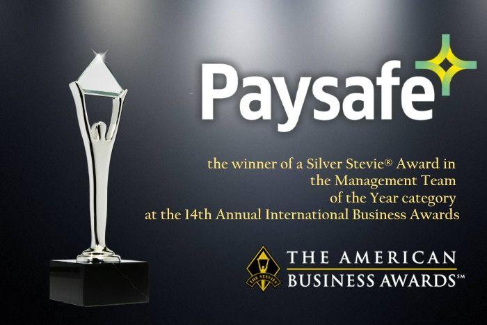 Paysafe Group награжден Stevie® Award 2017